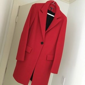 Red INTERMIX Wool One-Button Coat